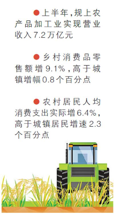 上半年农民收入增6.6% 农业农村经济稳中向好_网赚新闻网