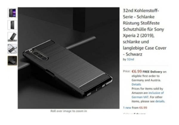 索尼Xperia 2保护套上架亚马逊 新机有望在IFA亮相