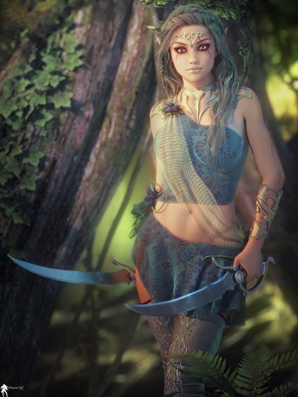 魔幻风美女人物原画赏 法国画师完美展示盔甲清凉属性高