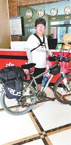 武汉男孩25天骑行1400公里