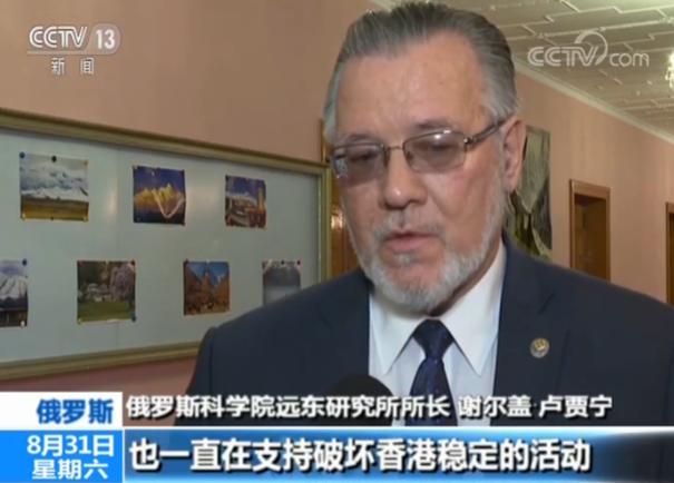 俄专家:外部势力破坏香港稳定 不法分子将受严惩