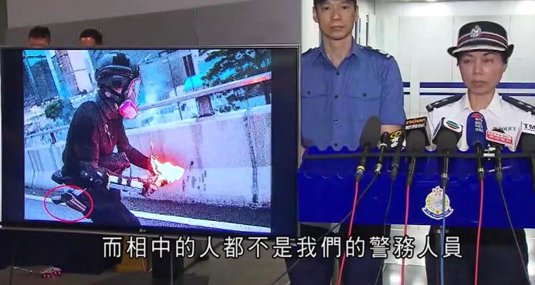 香港警方:网上流传的扔汽油弹图片中人物并非警察_我要网赚