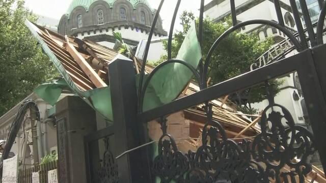 東京被吹壞的建筑(NHK電視臺)