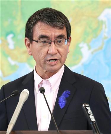 日本現任外相河野太郎(《產經新聞》)