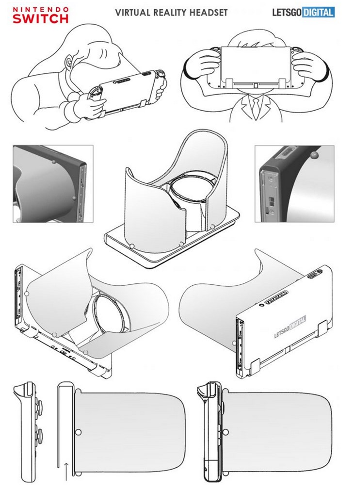 任天堂正在开发全新SwitchVR目前设计专利已公布