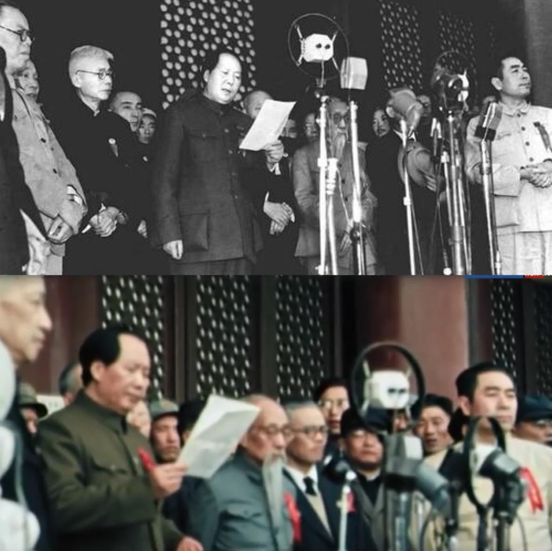 开国大典全彩影像曝光 俄献礼新中国成立70周年