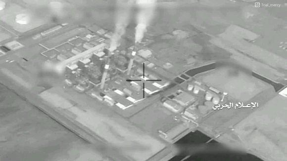 今年3月,胡塞武装公布的集赞自来水厂无人机拍摄图像 图源:社交媒体