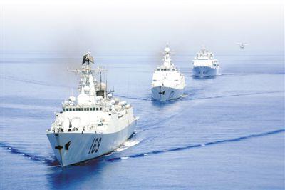 中国水师尾批护航编队。李 唐摄