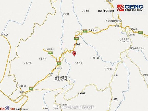 云南保山市施甸县凌晨发生3.4级地震,震源深度8千米