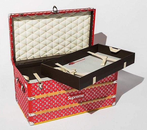 Louis Vuitton x Supreme Monogram Malle Courrier 90行李箱 图片来源:pinterest