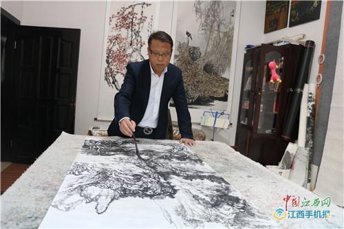 画家张光南:我来自农村 农村的一切都是我作画的素材(图)