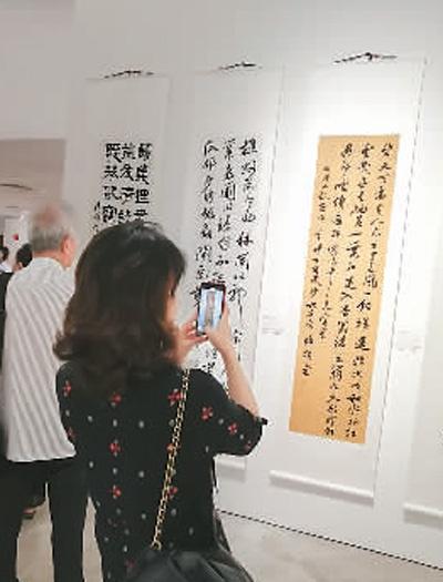百名中国书法博士作品在新加坡展出