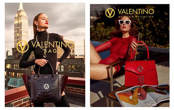 Mario Valentino手袋产品的广告