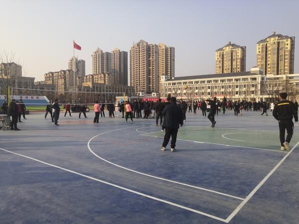 宿迁泗洪县教育系统举办迎新春教职工排球比赛