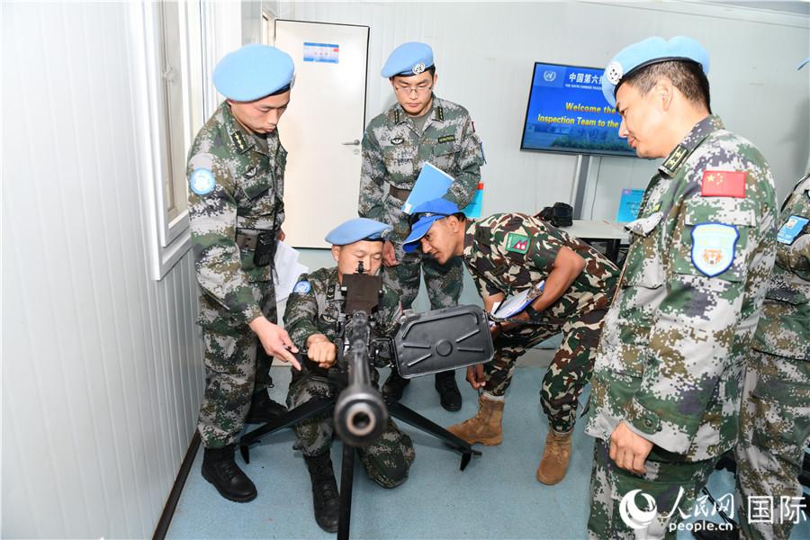 第六批赴南苏丹维和步兵营高标准通过联合国首次装备核查