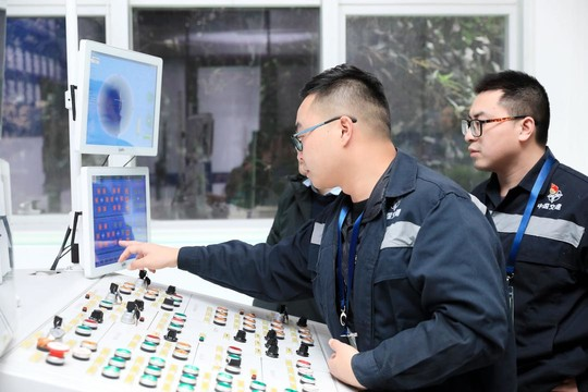 2019成都·职业技能邀请赛上,盾构施工参赛选手展开技能大比拼