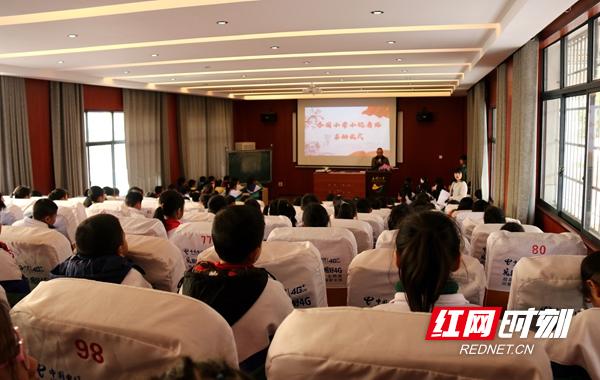 邵东市宋家塘街道杏园小学小记者站正式启动