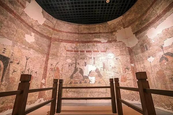 """""""壁上风神,惊世华彩"""":两百平方的北朝壁画昨起山西展出"""