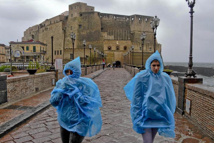 降水席卷意大利 部分城市要求学校停课