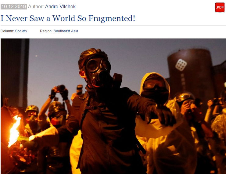 美战地记者:我提醒香港暴徒被美