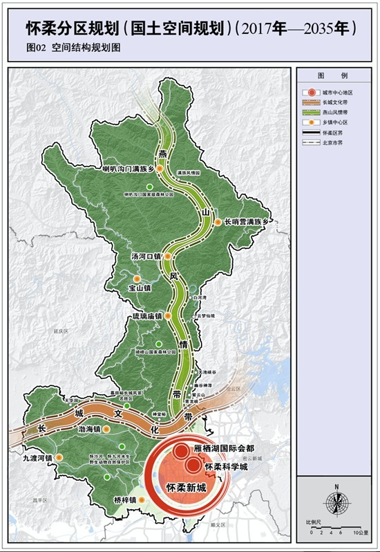怀柔分区规划全文发布:打造长城文化带和燕山风情带