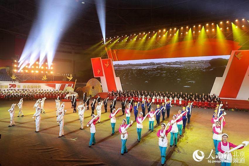 """朝阳区农村地区1400名群众载歌载舞""""表白祖国"""""""
