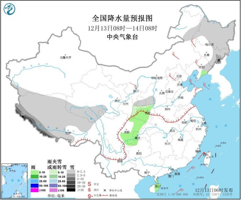 周末中东部大范围雨雪上线 西藏降雪持续