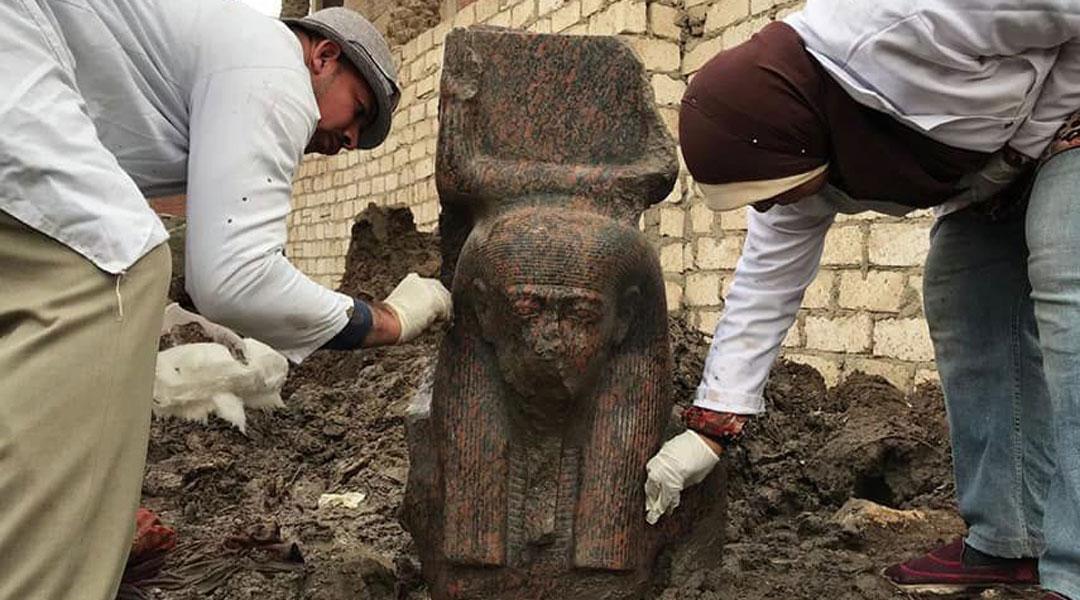 埃及考古学家发现罕见拉美西斯二