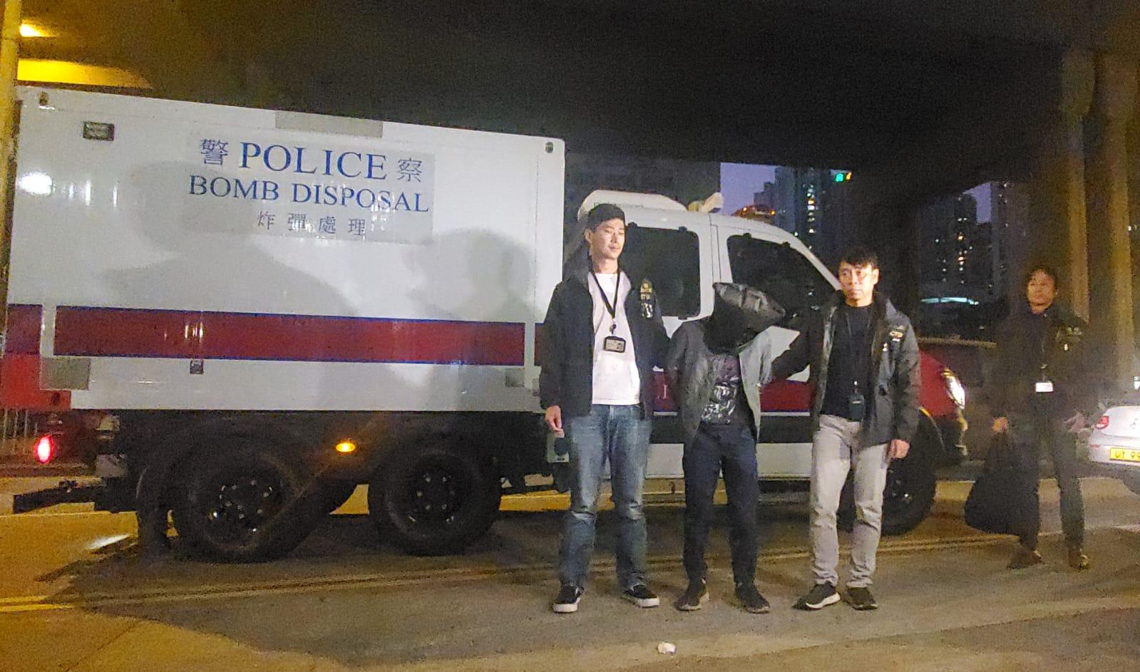猖狂!香港三男子测试遥控炸弹被