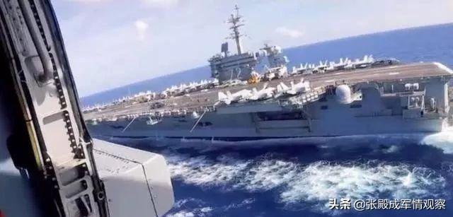 美航母穿越海峡 不料遭多艘军舰合围 铁杆盟友:敢入侵就消灭它