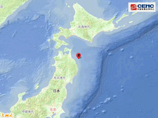 日本本州东岸近海发生5.1级地震