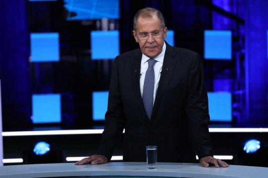 拉夫罗夫22日接受俄节目采访 视频截图