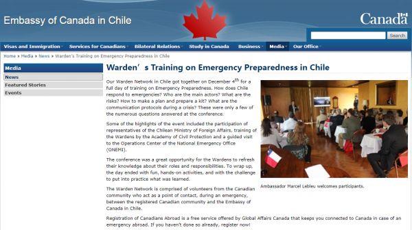 ▲加拿大驻智利大使馆网站截图