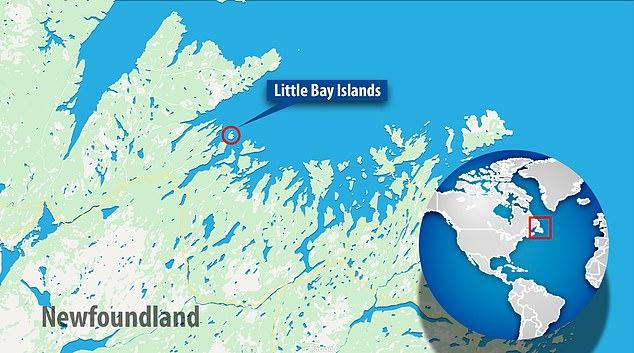 小海湾群岛位于加拿大东部(图源:英国《每日邮报》)