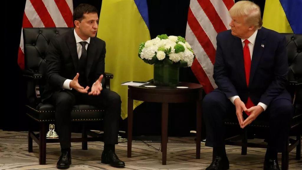 ▲资料图片:9月25日,美国总统特朗普与乌克兰总统泽连斯基利用出席联大峰会之际会面。(路透社)