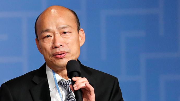韩国瑜就职高雄市长一周年在这方面他赢了蔡英文
