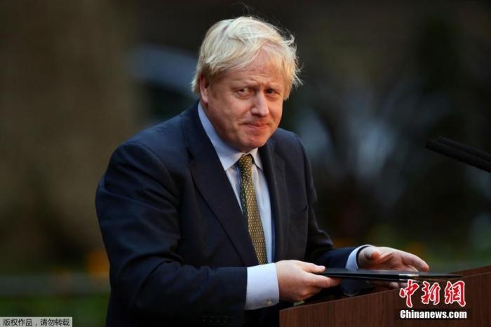 资料图:英国首相鲍里斯·约翰逊。