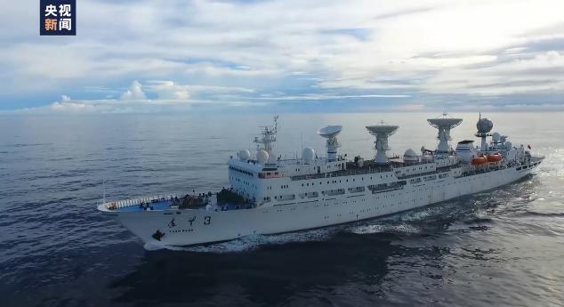 """守护""""胖五"""":3艘远望号船布阵大洋做好测控准备图片"""