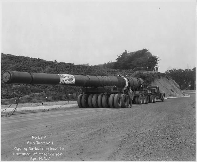 口径406毫米,20米长炮管,当年美国怕日本打到本土建造的巨炮