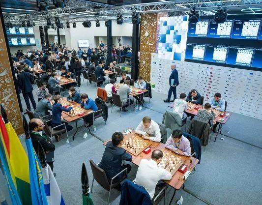 国际象棋世界快棋锦标赛五轮战罢 王皓暂居首位
