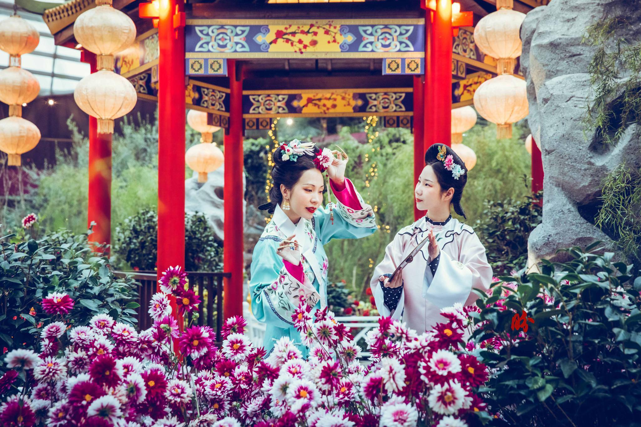 到此一游丨春节赏花好去处,在新加坡逛中式园林图片