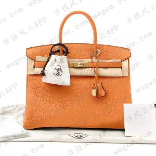 (爱马仕的Birkin 35cm Togo Orange)