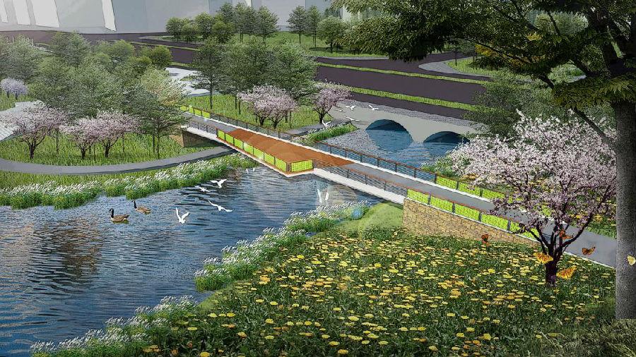 中国能建葛洲坝集团联合体总承包建设的中山市水体综合整治工程开工图片