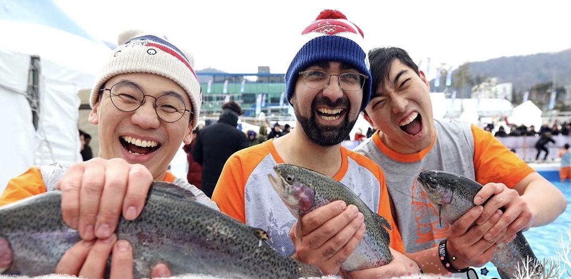 到此一游丨赤手捕鱼、帐篷垂钓,江原冰雪节活动多图片