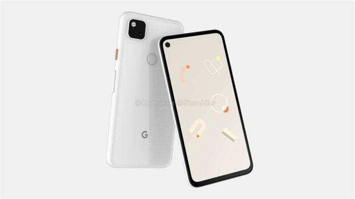 谷歌Pixel4a手机渲染图曝光