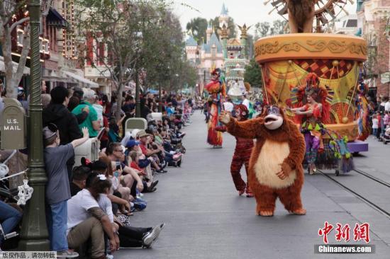 资料图:迪士尼乐园游行。