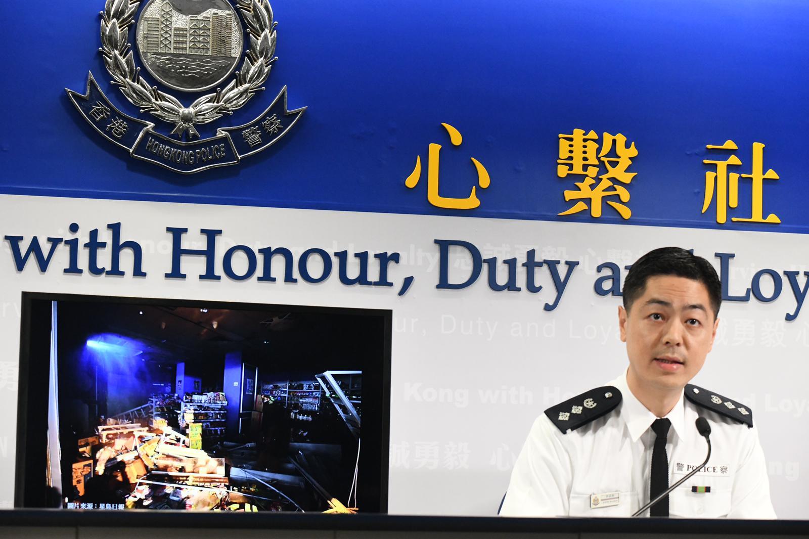 港警:周末共34人被捕 年龄介于13至50岁图片
