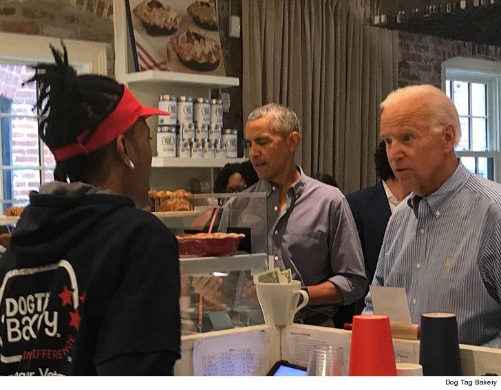 两人一同在华盛顿一家面包店里点餐。(图源:NBC)