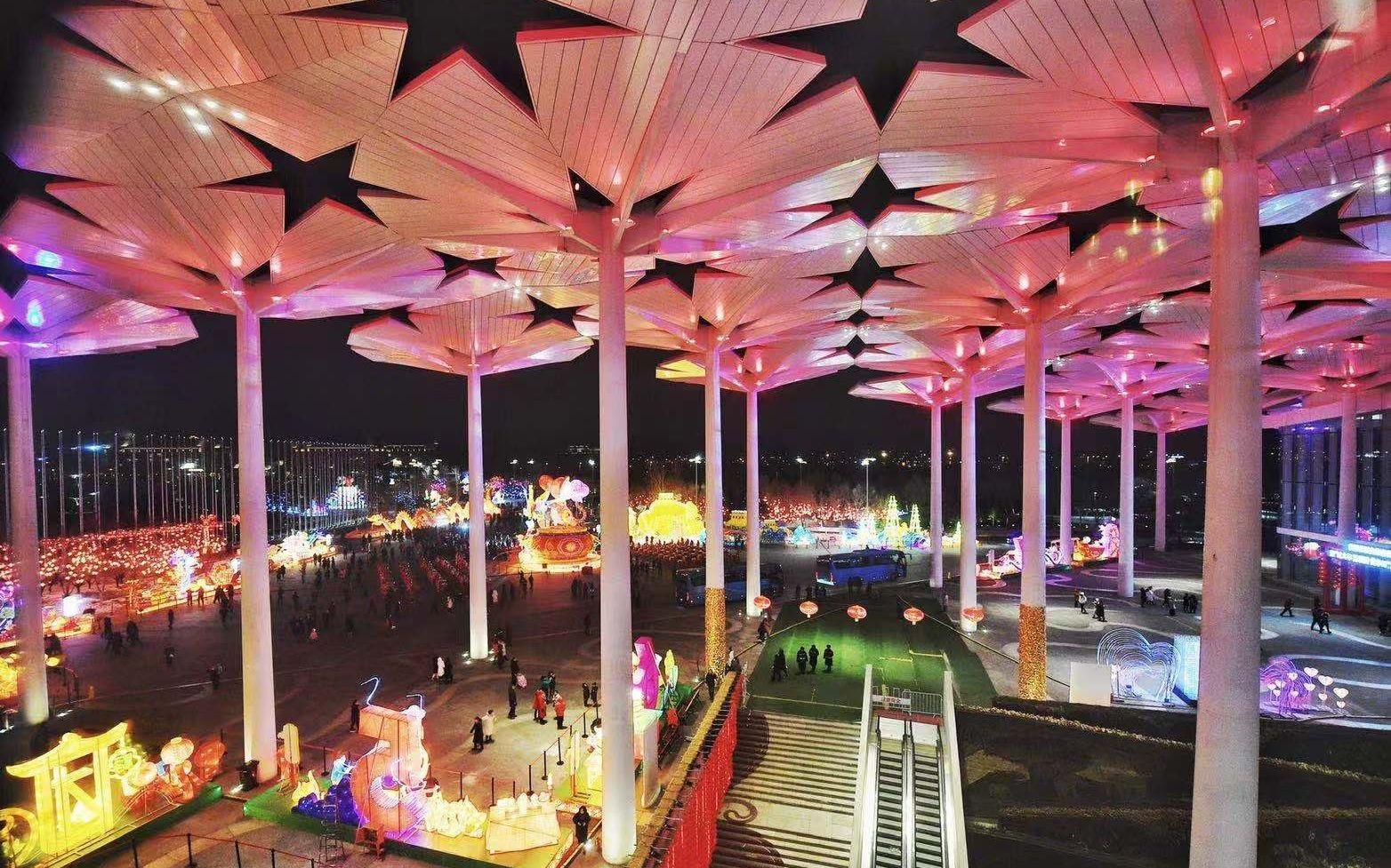 跨年之夜上演大型灯会 首届世园文化庙会启幕