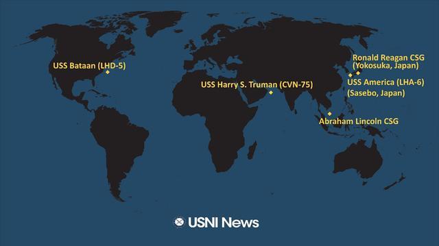 海上部署太无聊?美军航母圣诞节前在印度洋玩漂移
